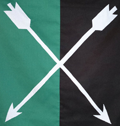 Crossed arrows banner